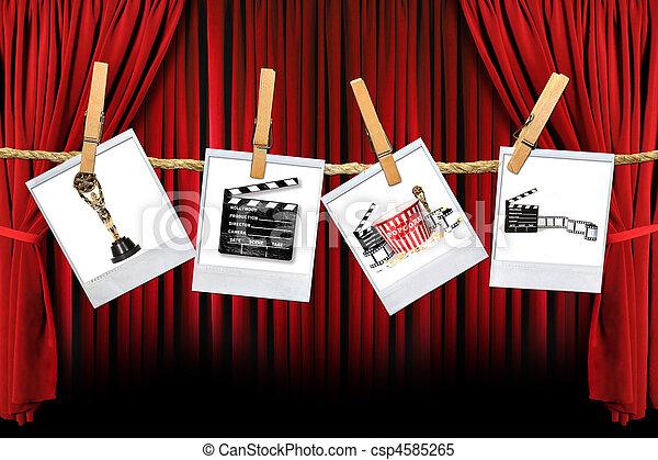 Studio Movie Film Production Related Items - csp4585265