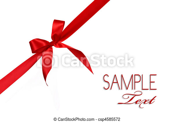 Red Gift Ribbon Bow  - csp4585572