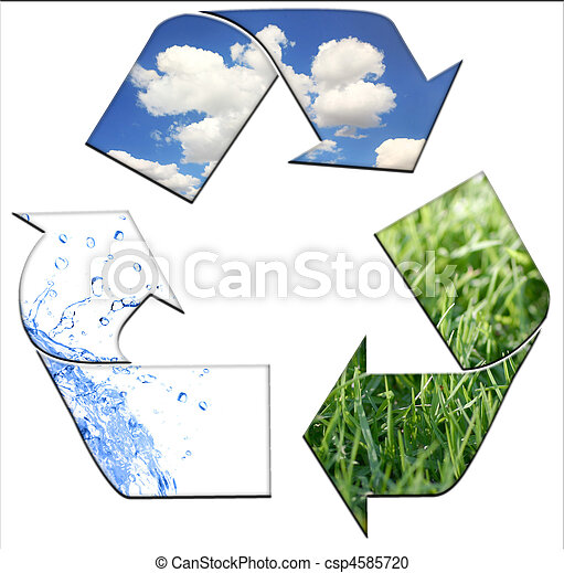 Recycling to Keeping the Environment Clean  - csp4585720