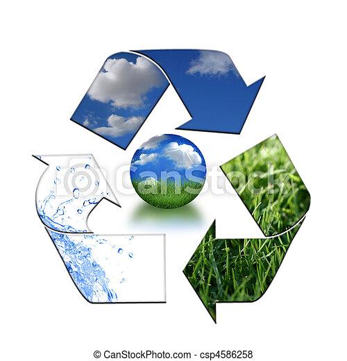 ambiente, Mantener, reciclaje, limpio - csp4586258