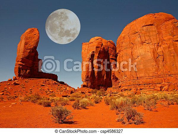 The Thumb Monument in Monument Valley Arizona - csp4586327
