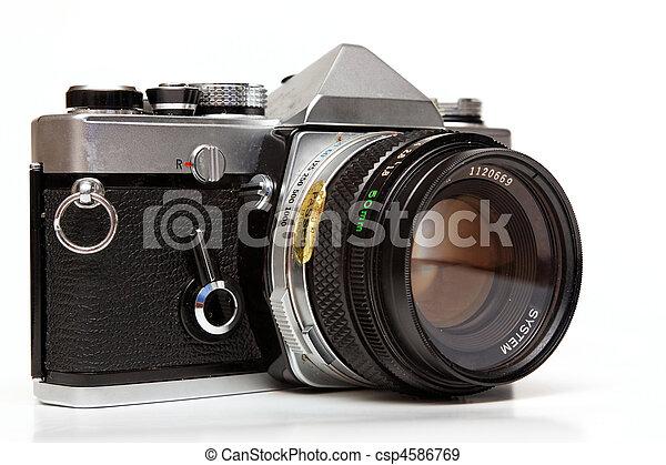 Old reflex camera. - csp4586769