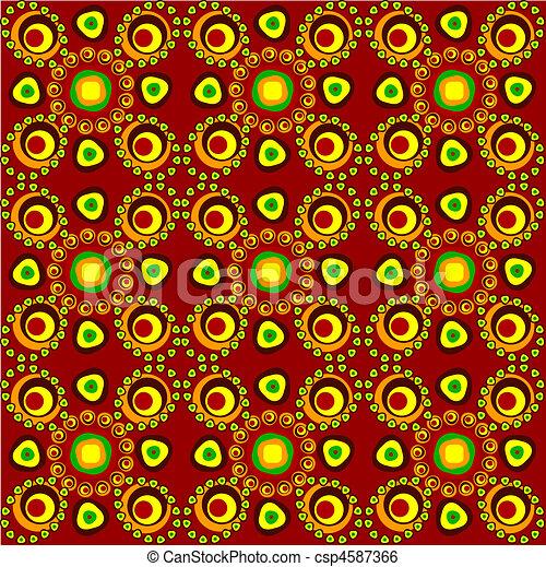 seamless ethnic tracery - csp4587366