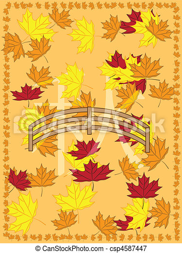 autumn picture in japanese slyle - csp4587447