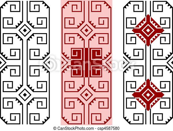 3 vector patterns - csp4587580