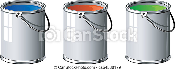 Three buckets of paint - csp4588179