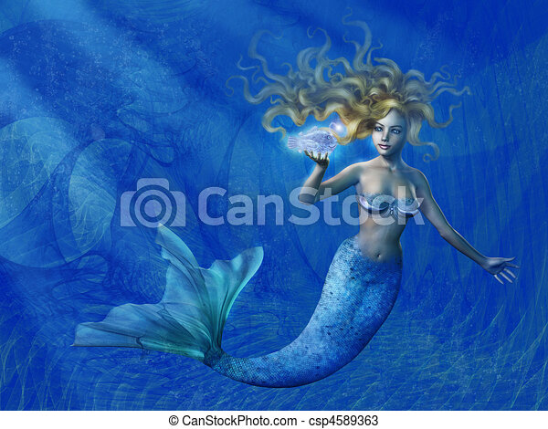 Deep Sea Mermaid - csp4589363