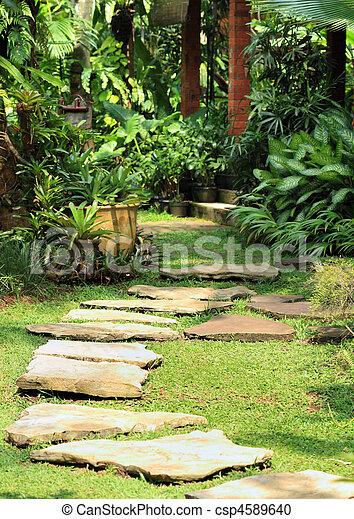 tranquil garden - csp4589640