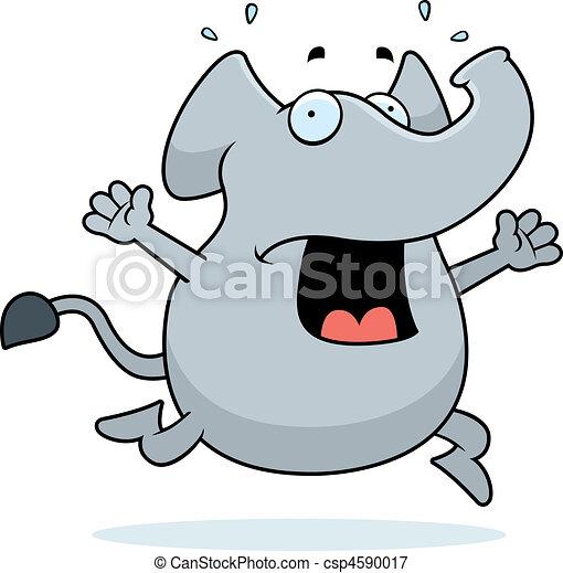 Elephant Panic - csp4590017