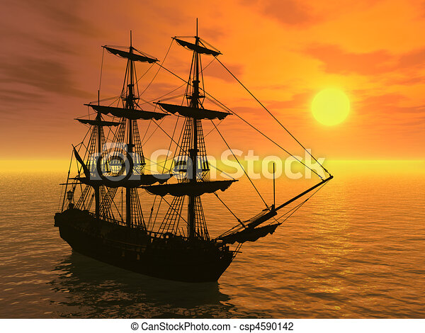 Tall ship Stock Illustrations. 428 Tall ship clip art images and ...