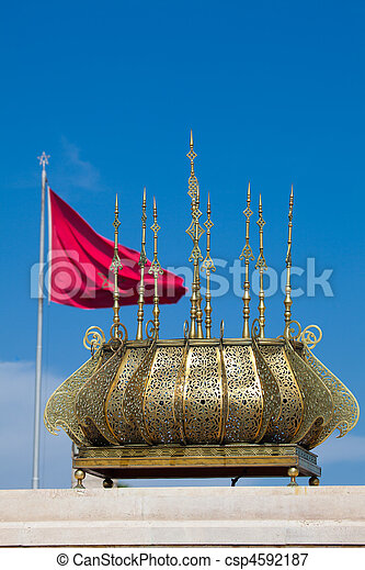 Mohamed V mausoleum, Rabat, Morocco  - csp4592187