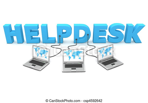 Multiple Wired to Helpdesk - csp4592642