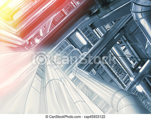 Background of mechanical engineering drawings, industry, education - csp45933122