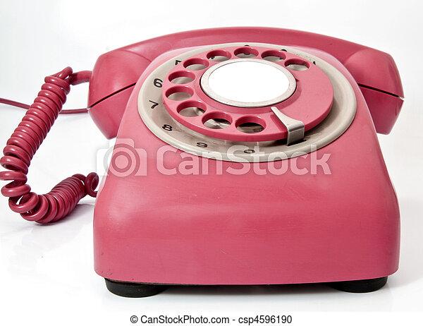 stock fotografie von telefon rosa retro telefon csp4596190 suchen sie fotos bilder. Black Bedroom Furniture Sets. Home Design Ideas