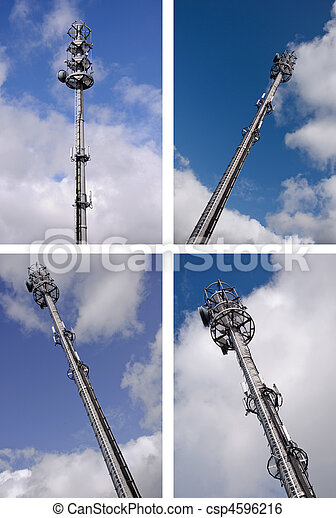 modern hi-tech microware radio tower mast - csp4596216