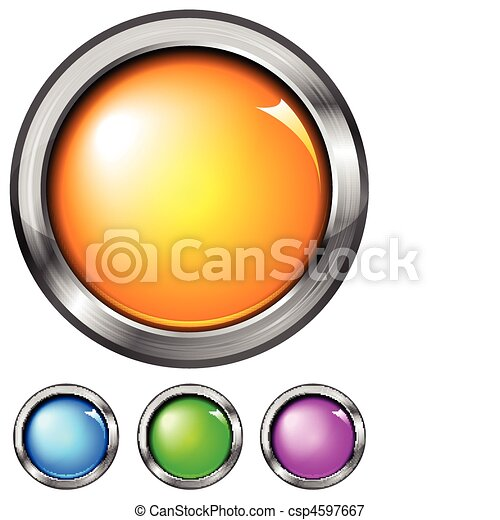 Set of buttons (NO gradient mesh) - csp4597667