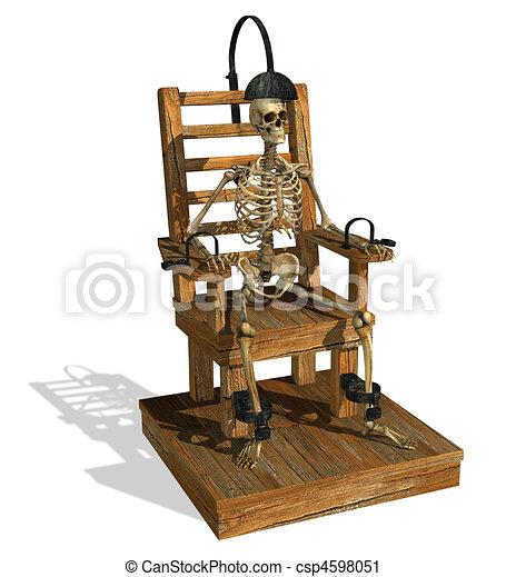 Clipart de chaise lectrique squelette lectrique - Execution en direct chaise electrique ...