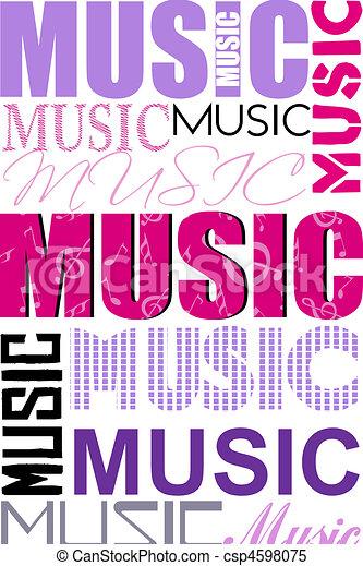 music typography - csp4598075
