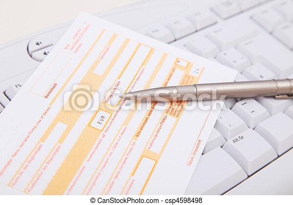 Bankwesen,  online - csp4598498