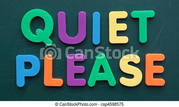 Quiet please - csp4598575