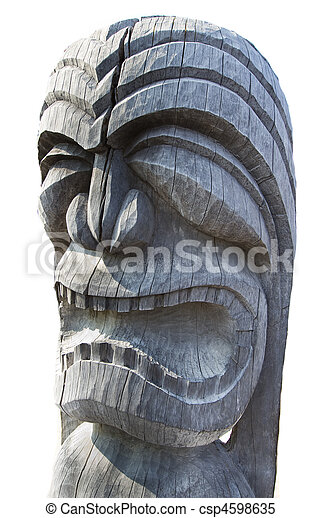 Wooden Tiki Head Drawing Stock Images of Tiki H...