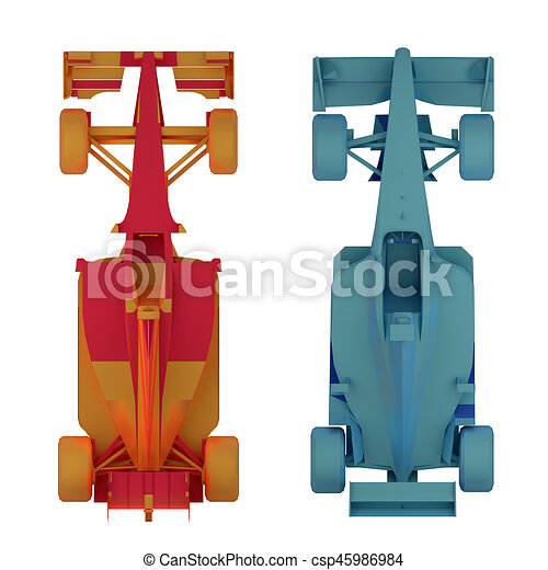 Stock Illustration Of Formula Race Car Top View Rendering