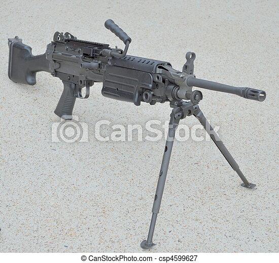 M249, escuadra, automático, Arma - csp4599627