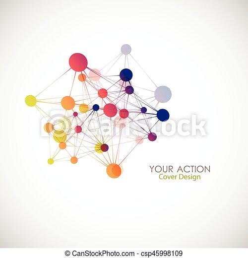 Network, connect or molecule set. Vector illustration for you idea - csp45998109