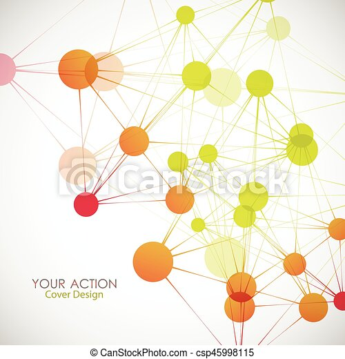 Network, connect or molecule set. Vector illustration for you idea - csp45998115