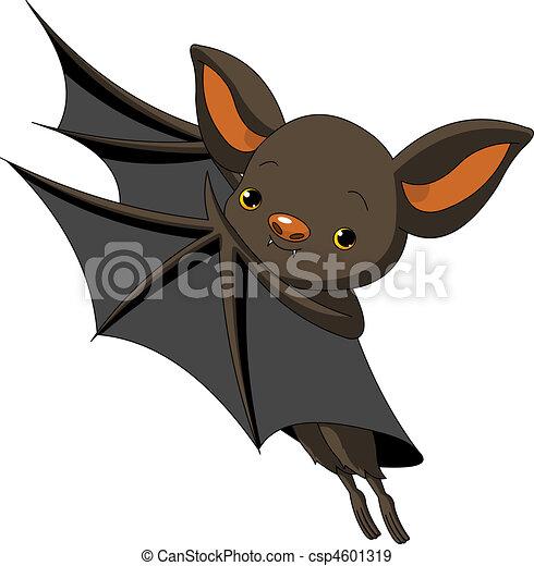 Halloween  bat presenting - csp4601319