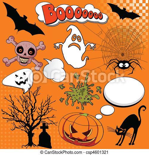 Halloween Comic elements - csp4601321
