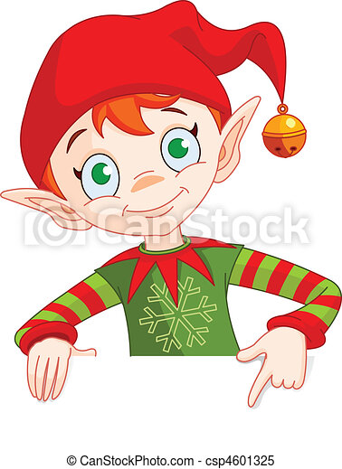 Christmas Elf Invite & Place Card - csp4601325