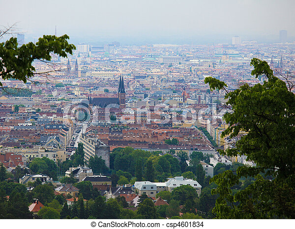 Panorama on the center of Vienna - csp4601834