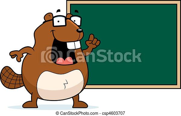 Beaver Chalkboard - csp4603707