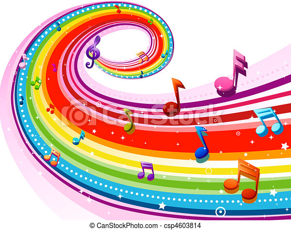Disegno di arcobaleno musica rainbow colored for Arcobaleno design