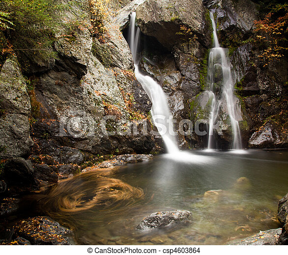 Bash Bish falls in Berkshires - csp4603864