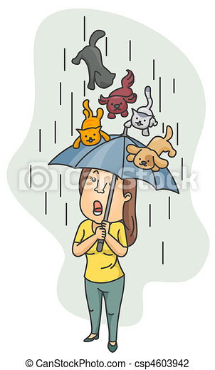 Raining Cats and Dogs - csp4603942