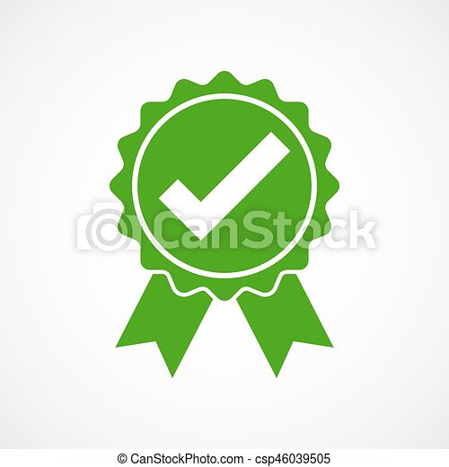 Approved icon. Vector illustration. - csp46039505