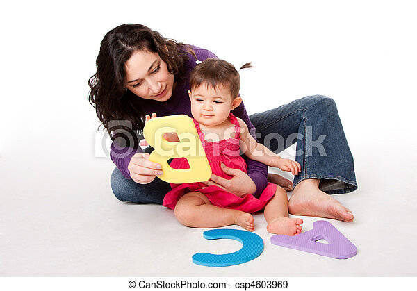 Baby learning alphabet ABC - csp4603969