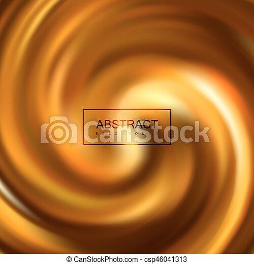 Golden swirling caramel whirlpool - csp46041313