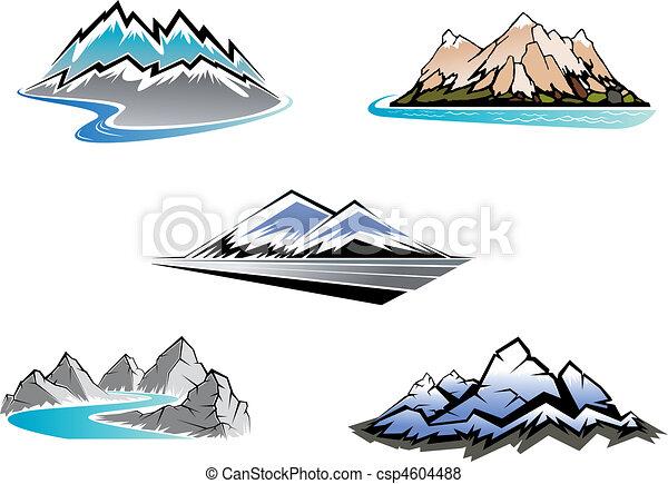 Mountain peaks - csp4604488