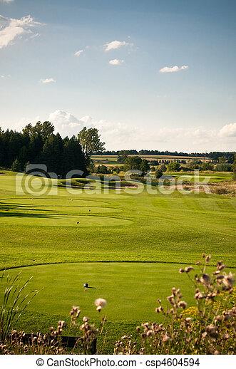 Hole on a Golf Course - csp4604594