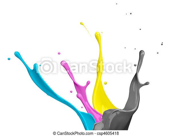 CMYK Paint Splash - csp4605418
