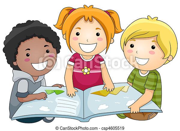 Reading Book - csp4605519