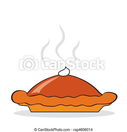 Hot pumpkin pie - csp4606014