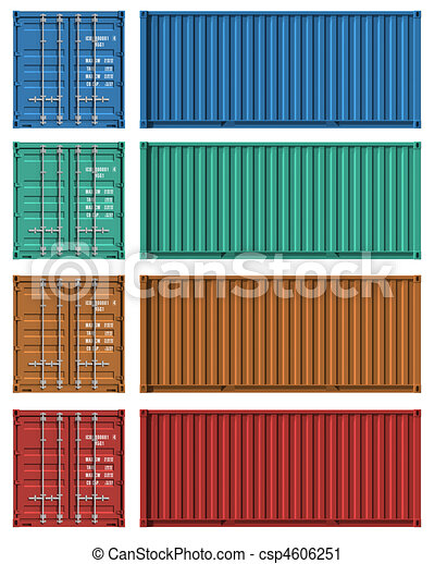 Set of cargo container templates - csp4606251