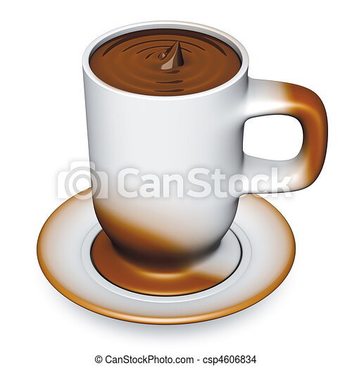 dessin de tasse chocolat 3d illustration de a tasse. Black Bedroom Furniture Sets. Home Design Ideas