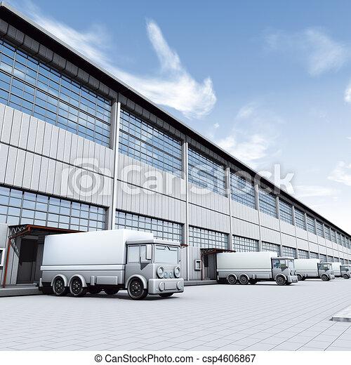 Docks truck - csp4606867