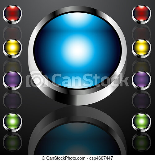 Big Chrome Buttons - csp4607447