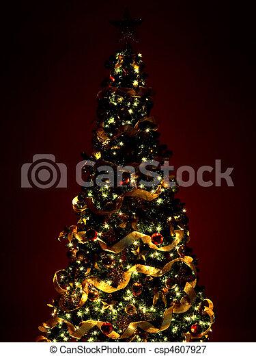 geschenke, baum, weihnachten - csp4607927